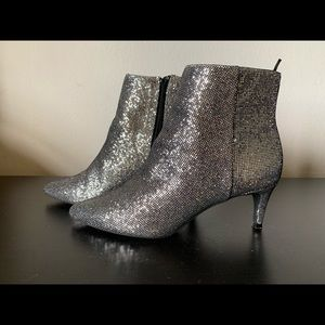 Glittery sliver booties